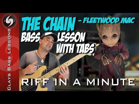 THE CHAIN - Bass Lesson with TABS, NOTATION and BACKING - Fleetwood Mac