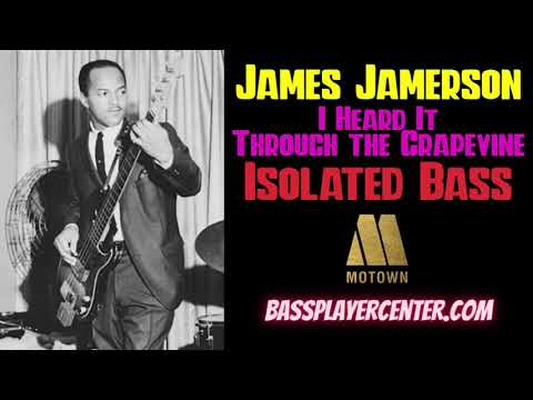James Jamerson - Isolated Bass - I Heard It Through The Grapevine - Marvin Gaye