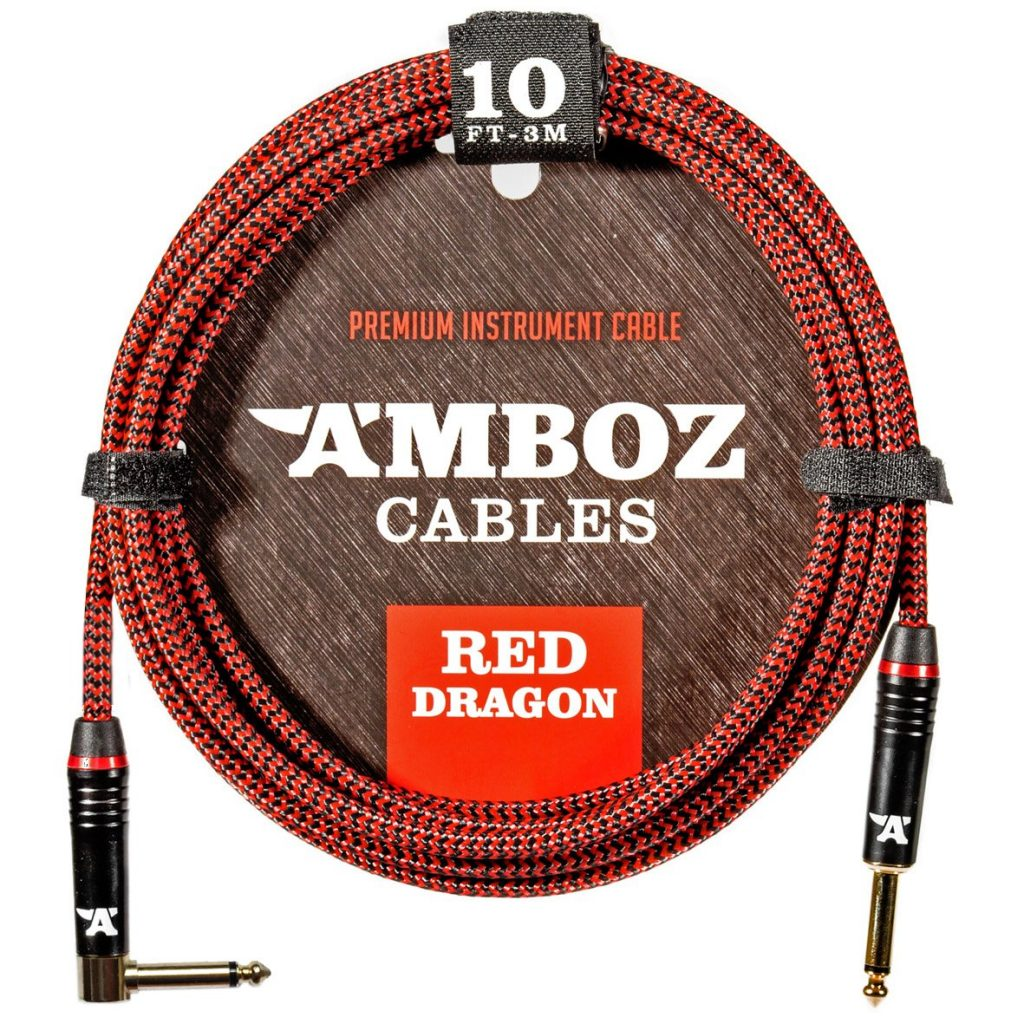 Amboz Red Dragon 10 ft. Bass Guitar Cable