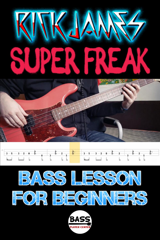 Bass Songs for Beginners Super Freak Rick James