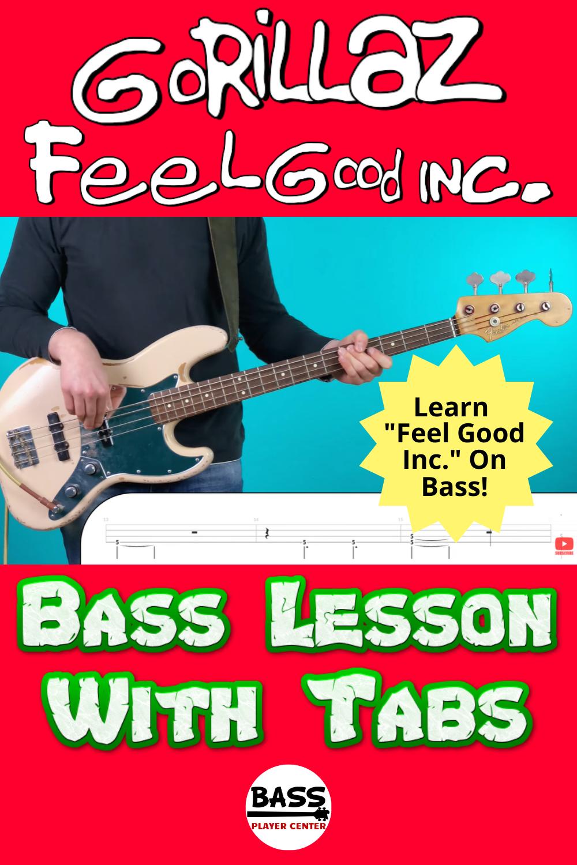 Easy Bass Songs for Beginners - Gorillaz Feel Good