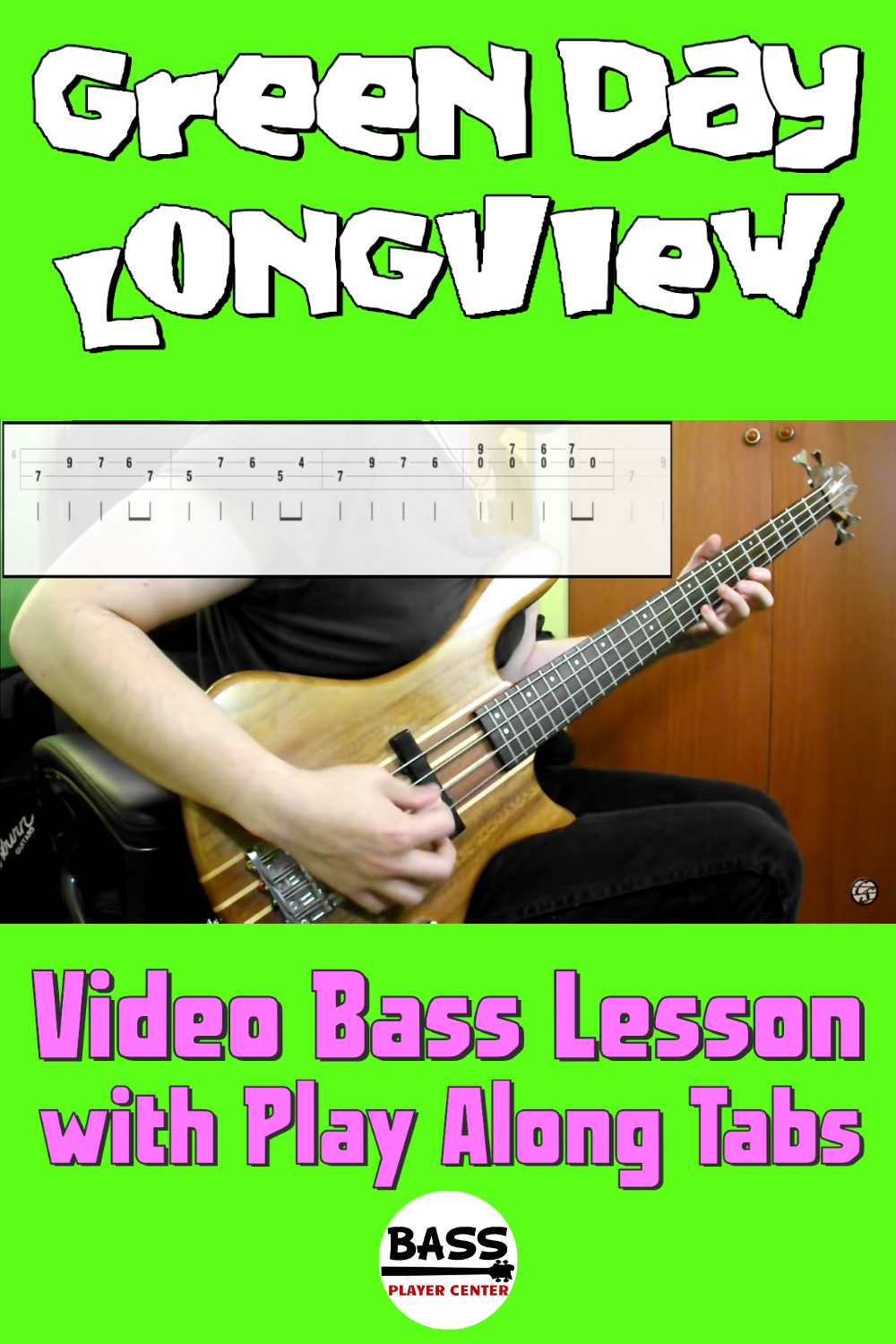 Easy Bass Songs for Beginners - Longview - Green Day