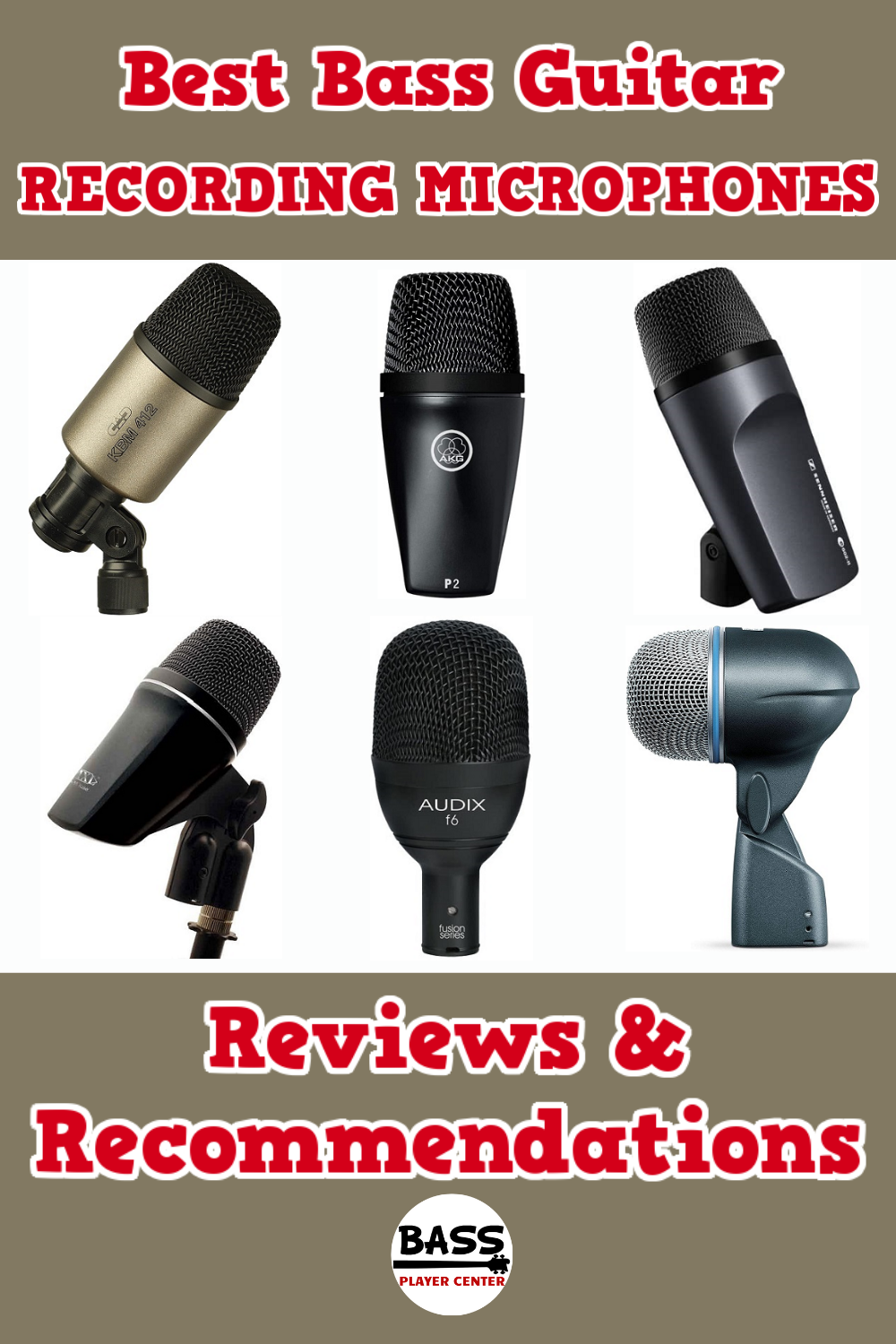 Best Bass Guitar Recording Microphones
