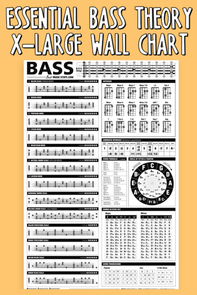 Essential Bass Theory Large Wall Chart