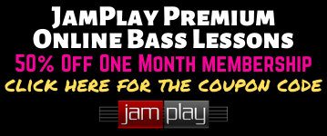 JamPlay Bass Lessons 50 Off Black Banner New
