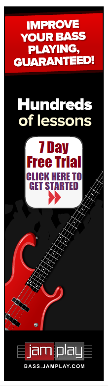 JamPlay Online Bass Lessons Free Trial Banner