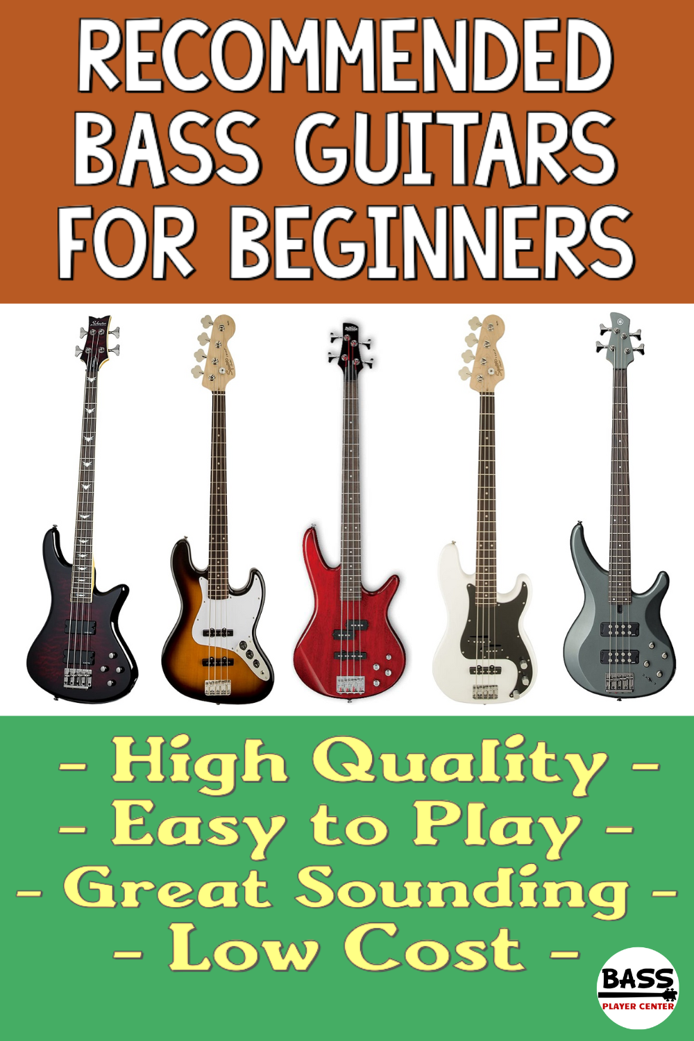 Recommended Best Bass Guitars for Beginners