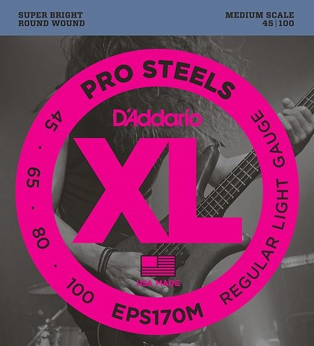 DAddario Pro Steels Best Strings For Pop Slap Medium
