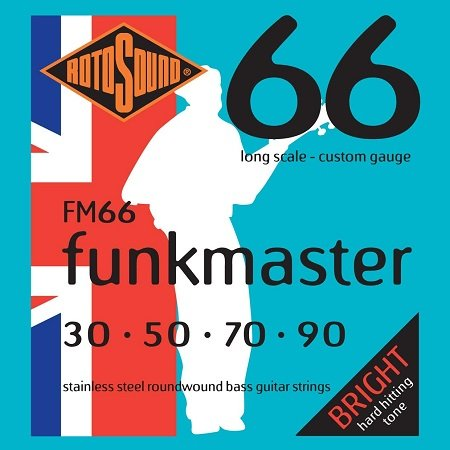 Rotosound FM66 Swing Bass 66 Stainless Steel Funkmaster Slap Pop