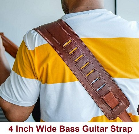4 Inch Wide Best Bass Guitar Strap Best