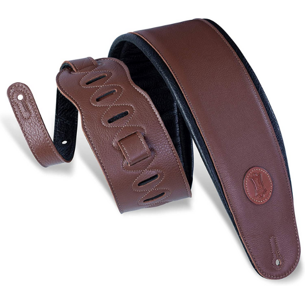 Levy's MSS2-4 Signature Series - Garment Leather Bass Guitar Strap CV