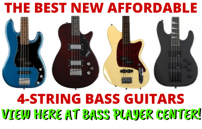 the best new affordable 4 string bass guitars on bass player center