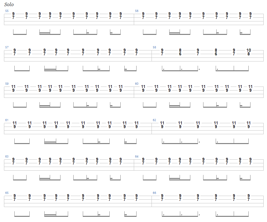 Ace of Spades Bass Tab solo