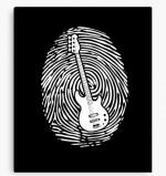 Bass Guitarist DNA Canvas Print