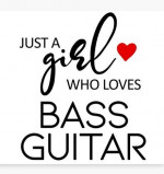 Girl Who Loves Her Bass Canvas Print