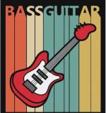 Vintage Bass Guitar Music Instrument Canvas Print