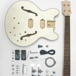 DIY Bass Guitar Kit: Semi-Hollow Body
